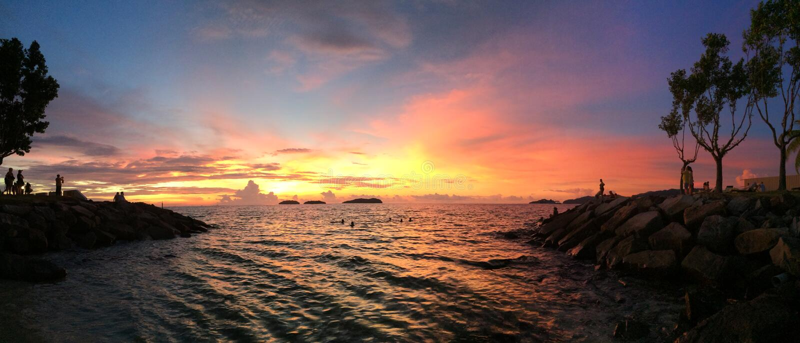 KK zonsondergang stock afbeelding