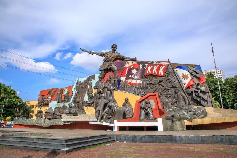 KKK-Monument in Manilla, Filippijnen royalty-vrije stock fotografie