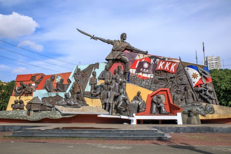 KKK-Monument in Manilla, Filippijnen stock afbeelding