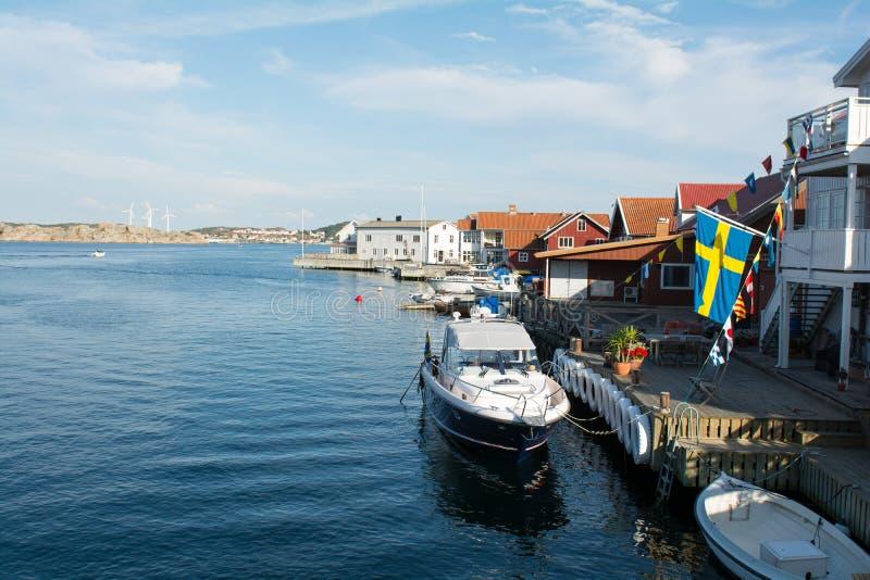 Klädesholmen στη δυτική ακτή στη Σουηδία στοκ εικόνα με δικαίωμα ελεύθερης χρήσης