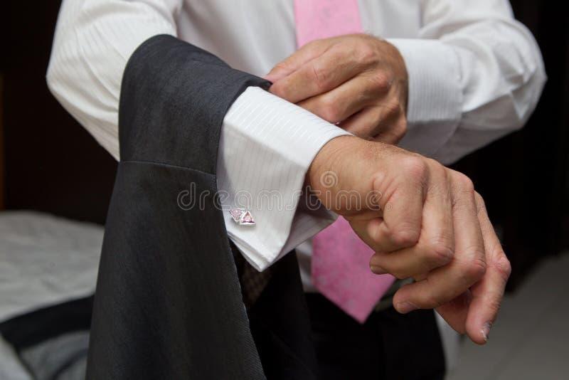 Klä för brudgummar arkivbild