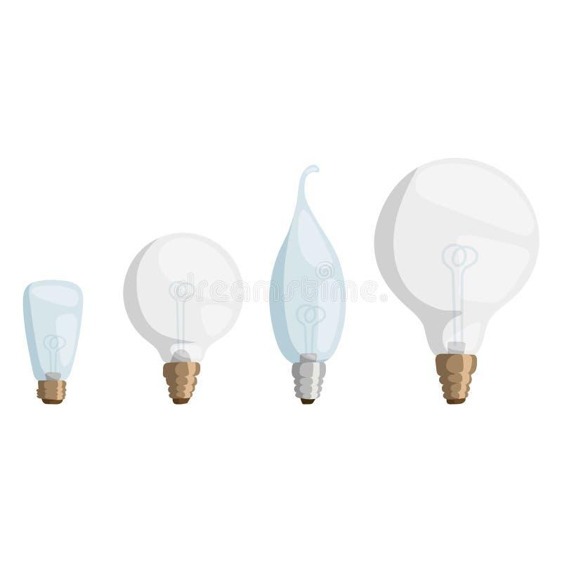 Kläckning av ideer för objekt för symbol för illustration för vektor för design för elektricitet för ljus kula för tecknad filmla stock illustrationer