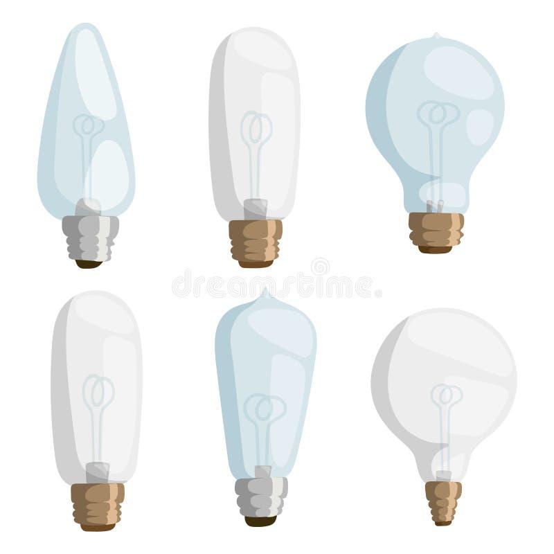 Kläckning av ideer för objekt för symbol för illustration för vektor för design för elektricitet för ljus kula för tecknad filmla vektor illustrationer