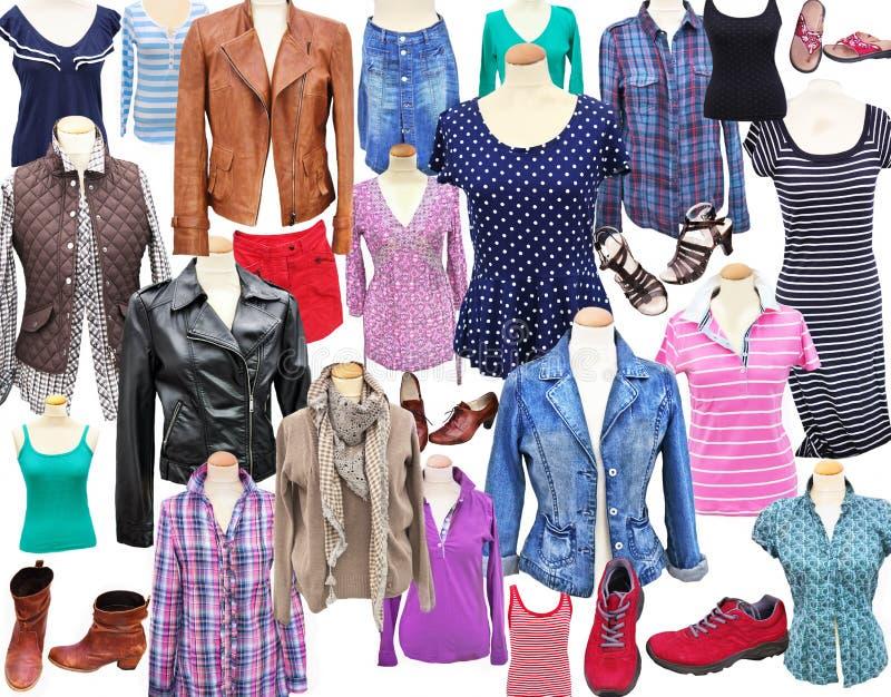 Kläder för kvinna` s royaltyfria bilder