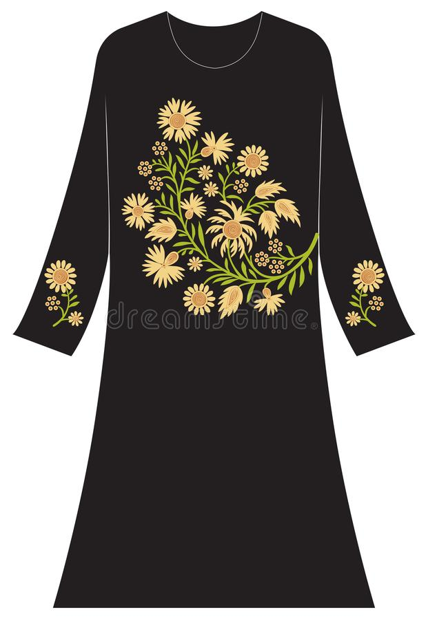 Kläder för kvinna` s: Daysi blommor och pistillar fotografering för bildbyråer