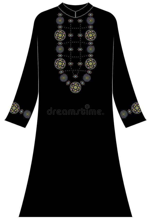 Kläder för kvinna` s: Sfärer spiral, prickar royaltyfri illustrationer