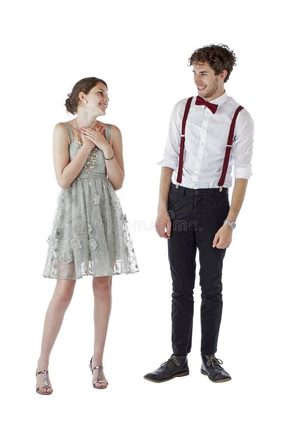 kläder förbunde formellt le för deltagare som är teen royaltyfri foto