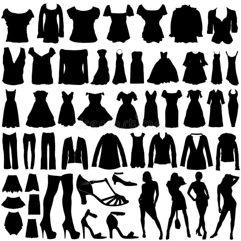 klädermodevektor vektor illustrationer