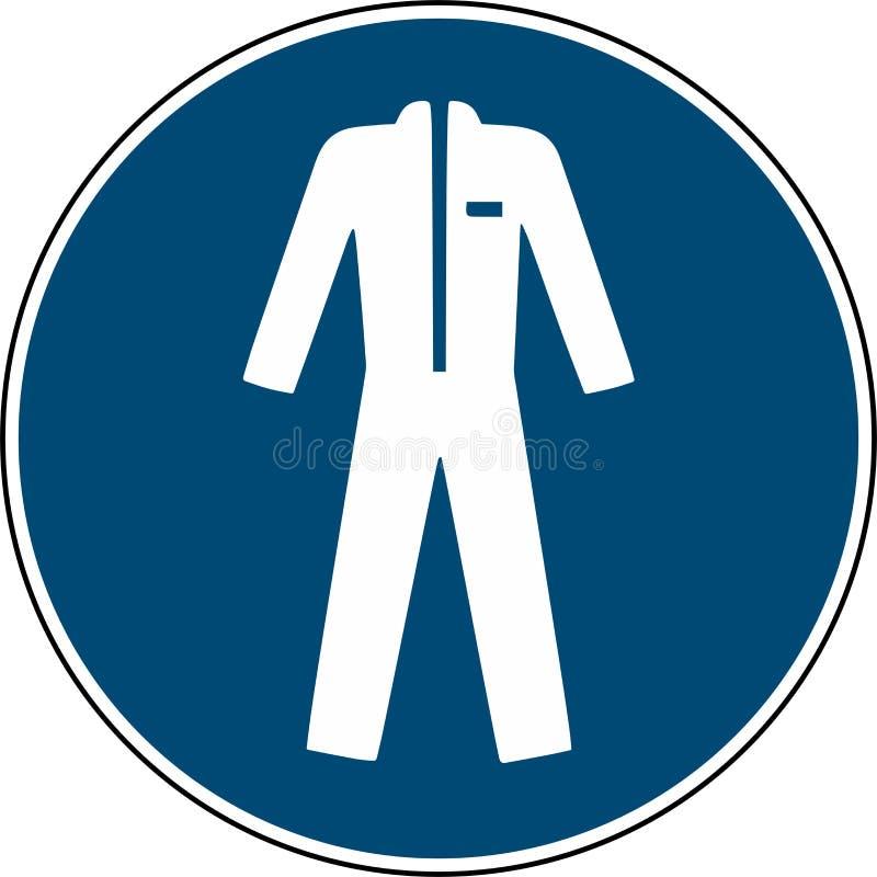 Kläderskyddsklädertecken - obligatoriskt tecken royaltyfri illustrationer