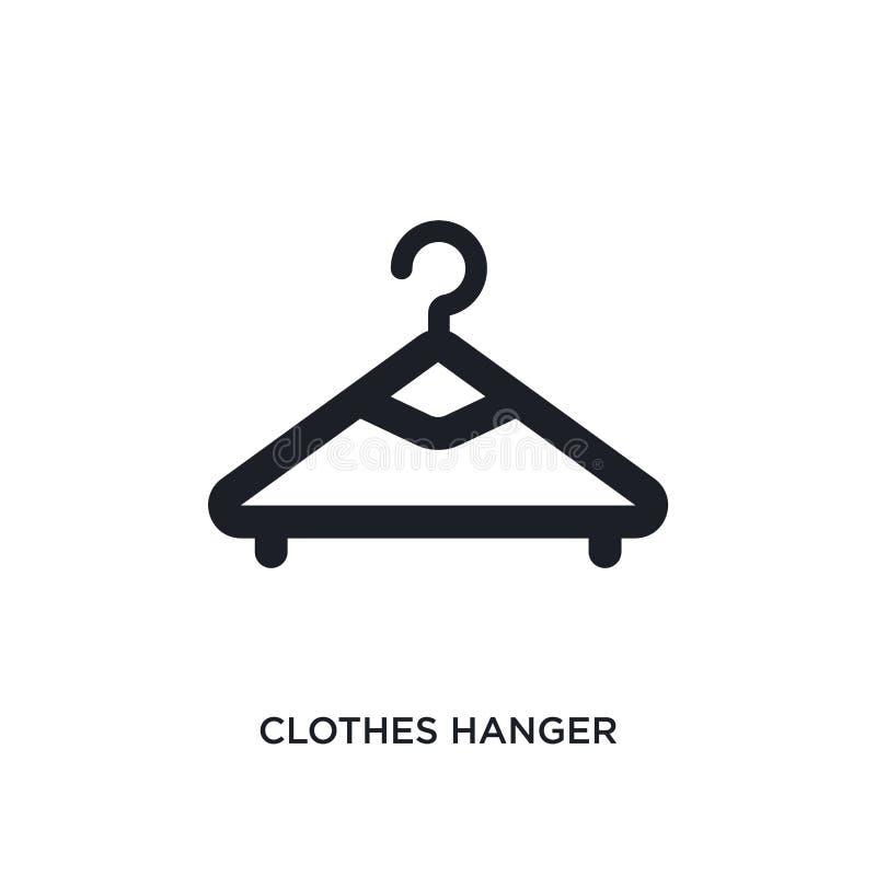 klädhängare isolerad symbol enkel beståndsdelillustration från hygienbegreppssymboler för logotecken för klädhängare redigerbart  vektor illustrationer