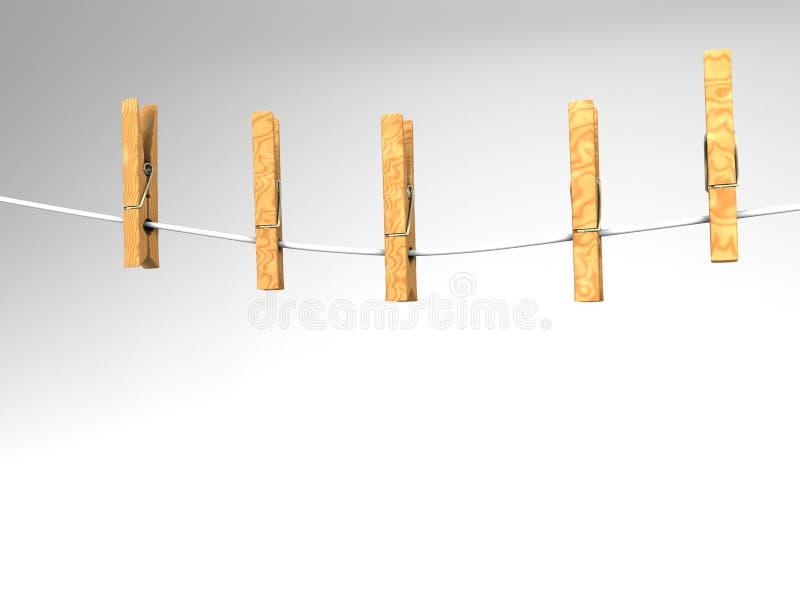 klädstreckklädnypor stock illustrationer