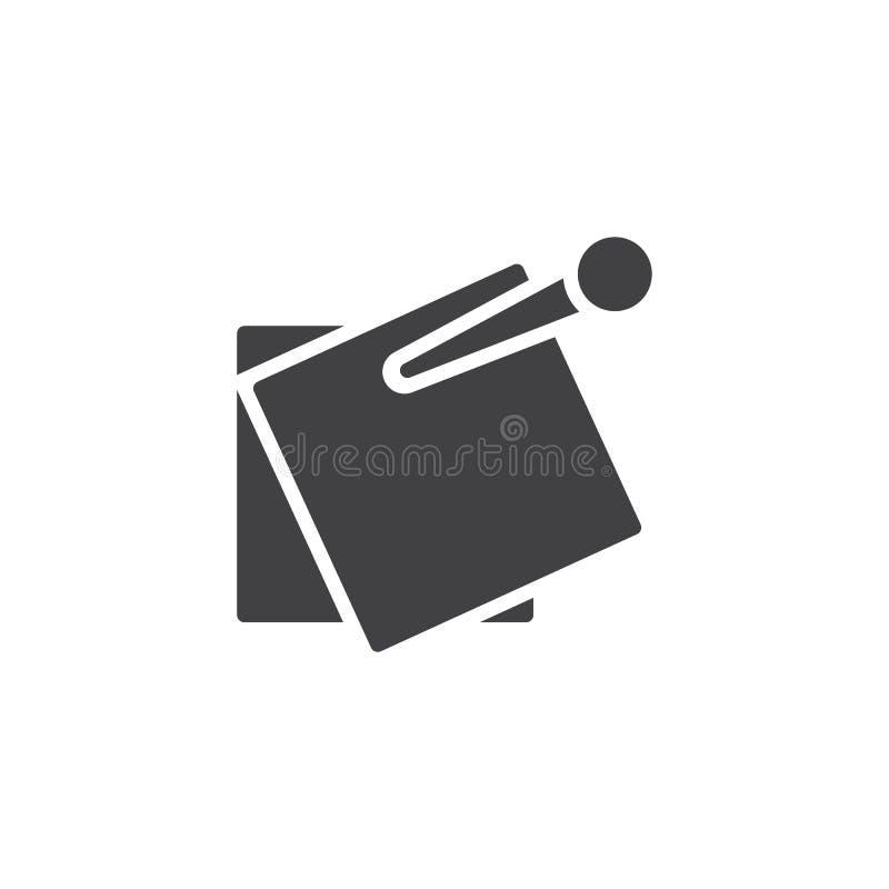 Klämd fast anmärkningsvektorsymbol vektor illustrationer