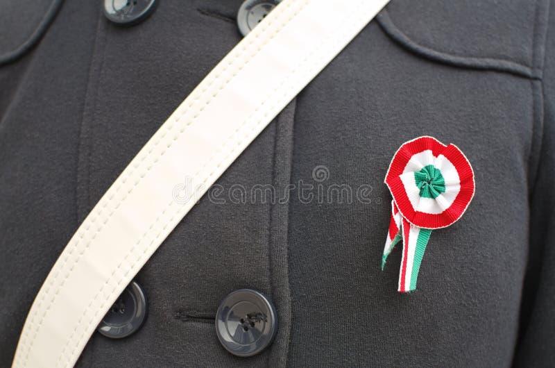 Klämd fast ungersk kokard royaltyfri foto