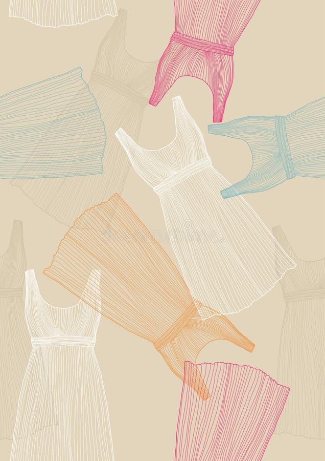 klänningar mönsan seamless vektor illustrationer