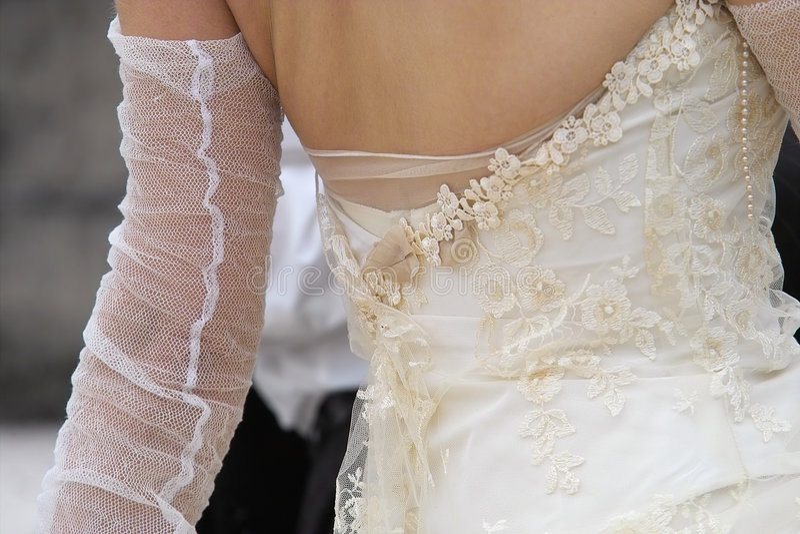 klänningbröllop fotografering för bildbyråer