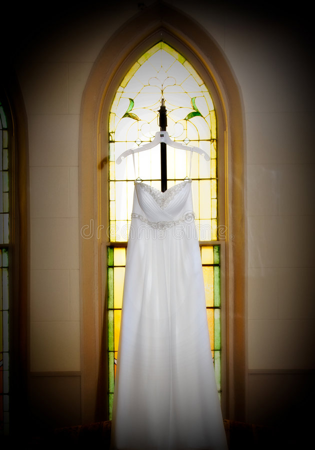 klänningbröllop royaltyfri fotografi