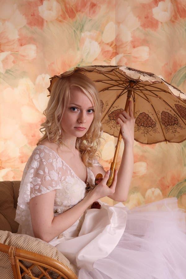 klänningbröllopkvinna arkivfoton