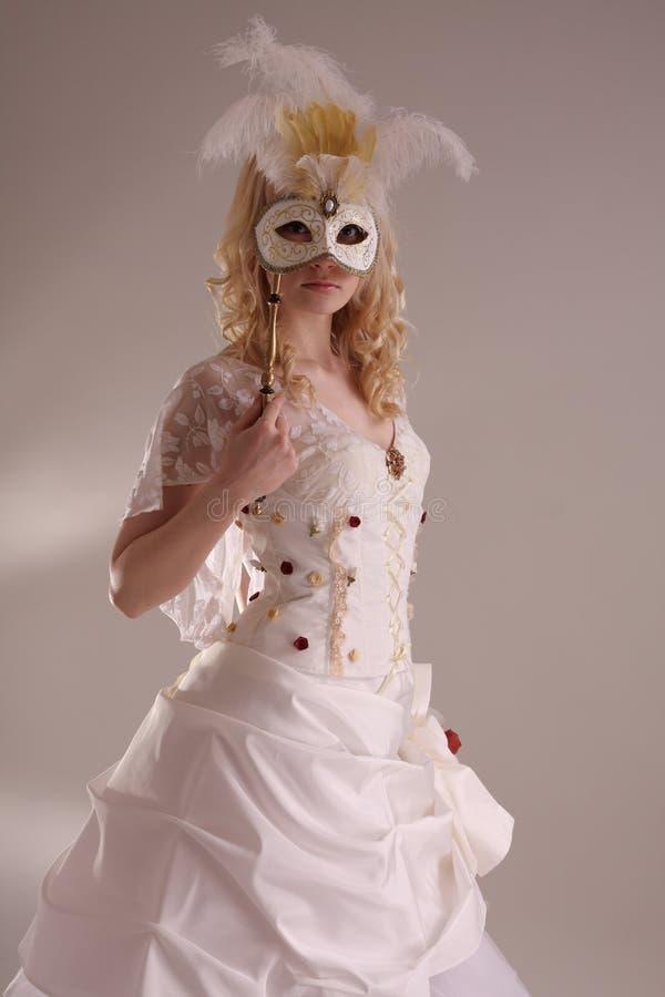 klänningbröllopkvinna arkivbild