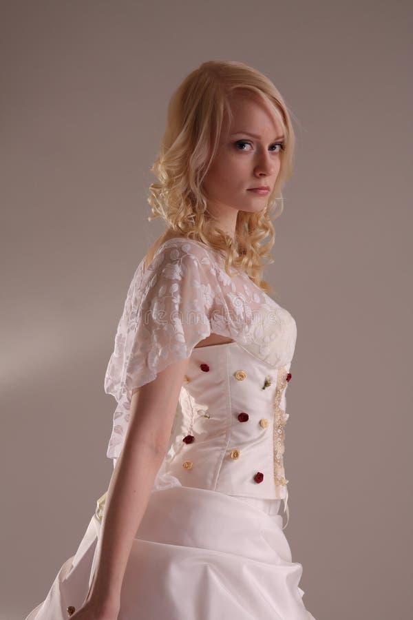 klänningbröllopkvinna arkivbilder