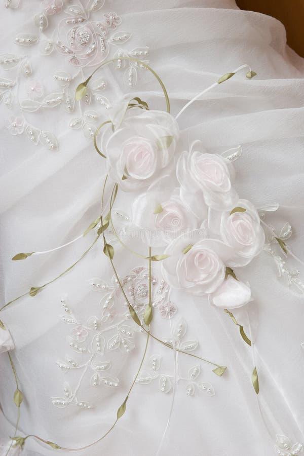 klänningbröllopwhite royaltyfri fotografi