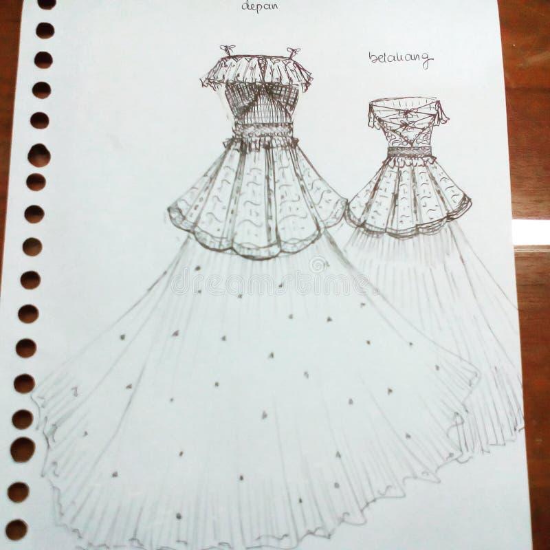 Klänningdesign royaltyfria bilder