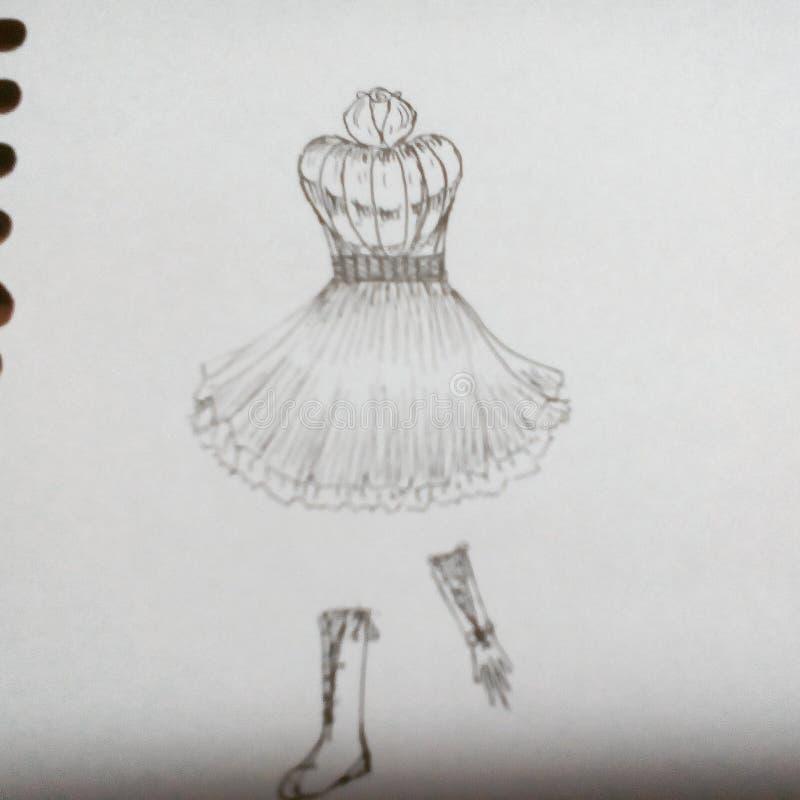Klänningdesign arkivbild