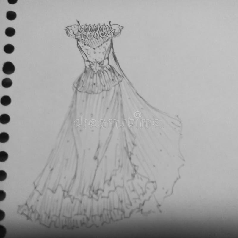 Klänningdesign arkivfoto
