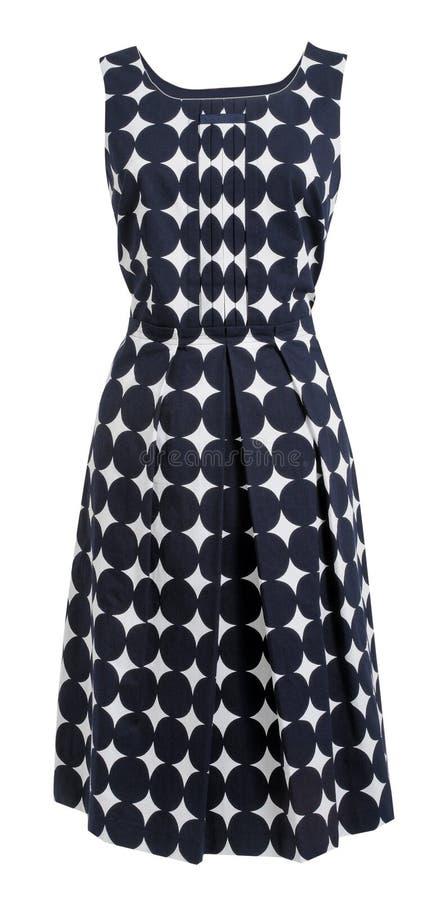 Klänningen med polka pricker vektor illustrationer
