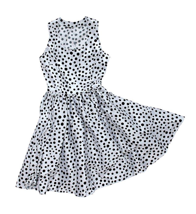 Klänningen med polka pricker royaltyfri illustrationer