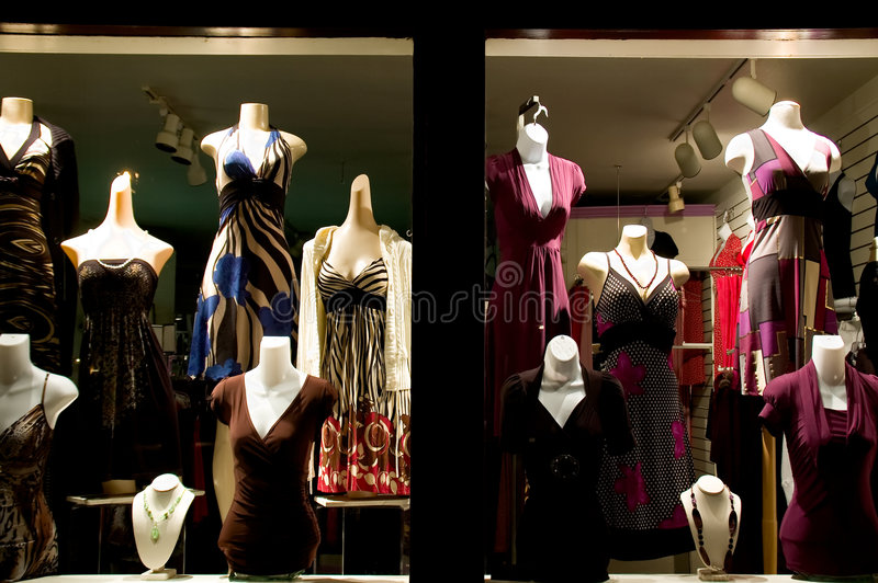 Klänningen Shoppar Arkivbild