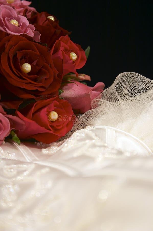 klänningportaitbröllop royaltyfri bild