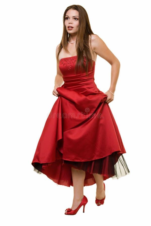klänningstudentbal royaltyfri bild