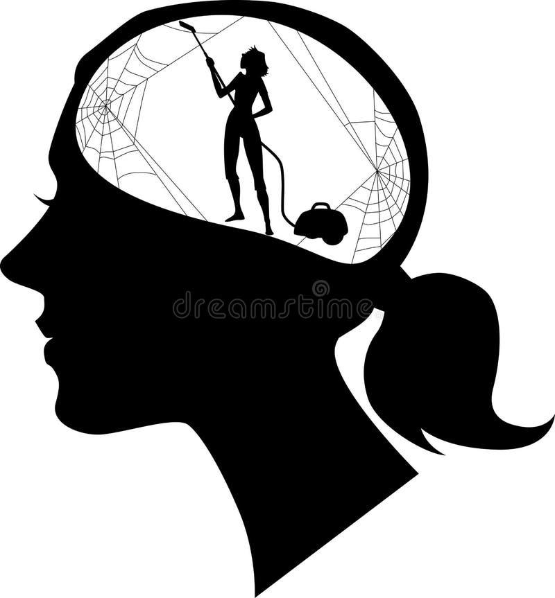 Klären Sie Ihren Verstand lizenzfreie abbildung