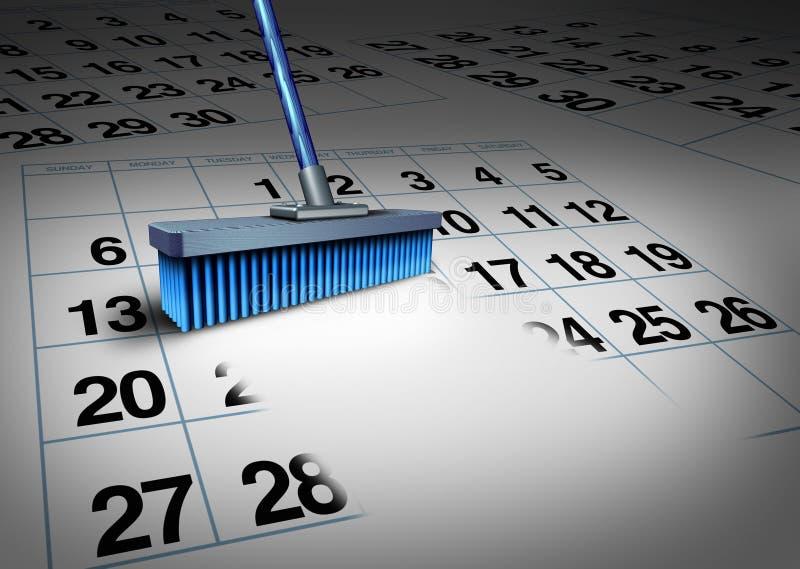 Klären Sie Ihren Zeitplan lizenzfreie abbildung