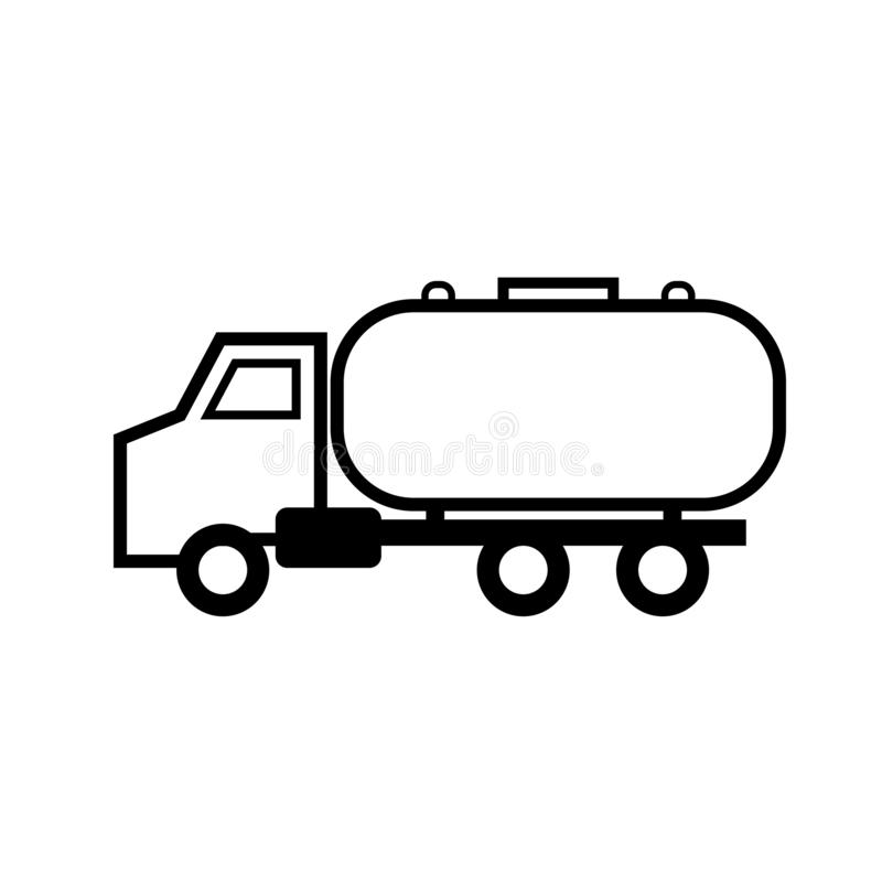 Klärgrube-LKW-Entwurfsikone stock abbildung