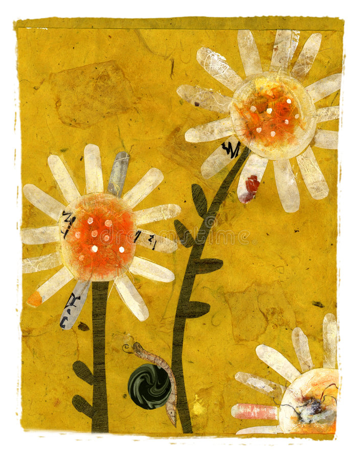 klättra blommasnailen stock illustrationer