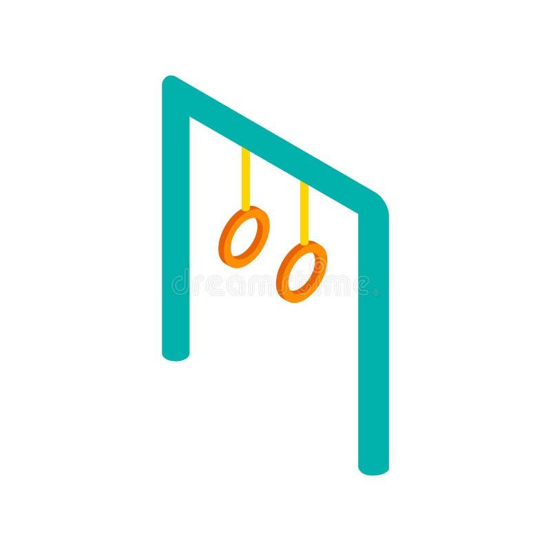 Klättra den isometriska symbolen 3d för cirklar royaltyfri illustrationer