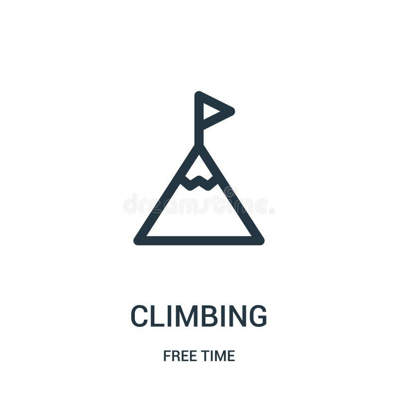 klättra symbolsvektorn från samling för fri tid Tunn linje illustration för vektor för klättringöversiktssymbol Linjärt symbol fö vektor illustrationer
