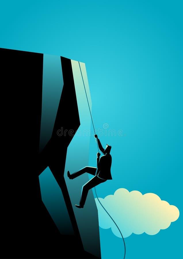 klättra till överkanten royaltyfri illustrationer