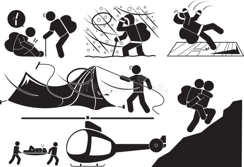 klättrare vektor illustrationer