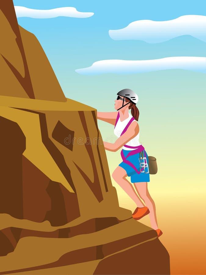 klättrareberg vektor illustrationer