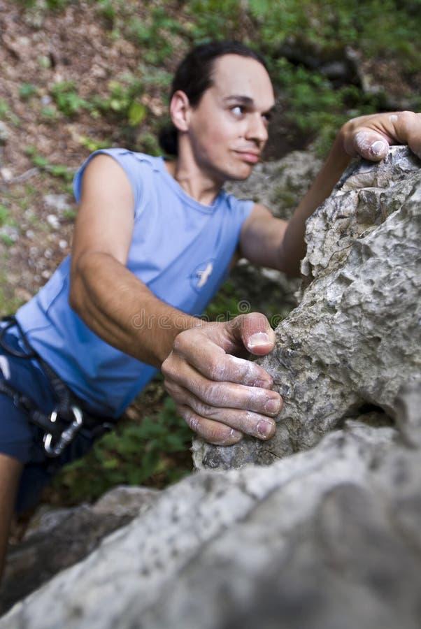 klättrarehopp som förbereder sig till royaltyfri fotografi