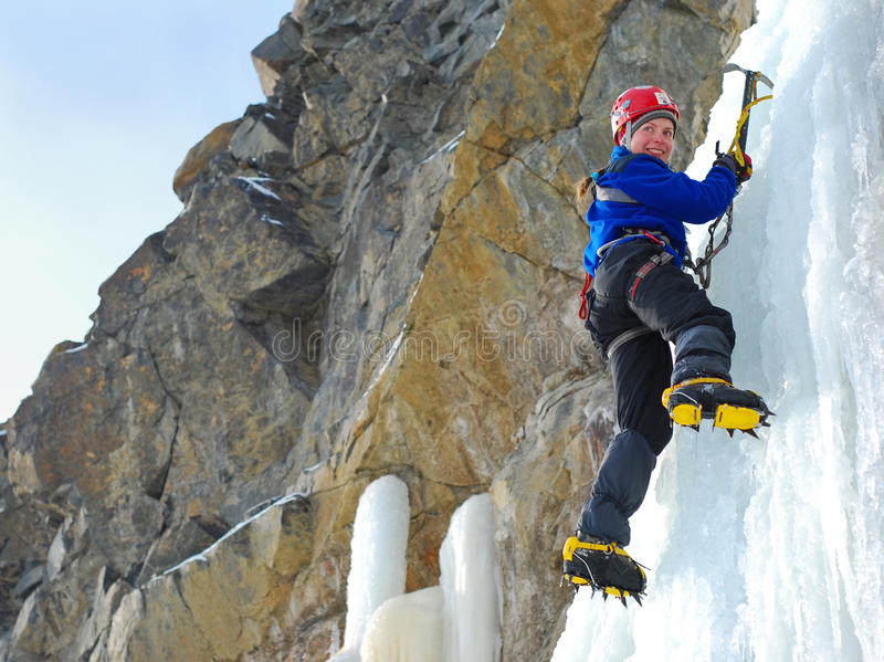 klättrareis arkivfoto