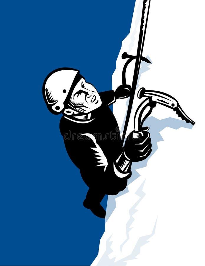 klättrareklättringberg upp royaltyfri illustrationer