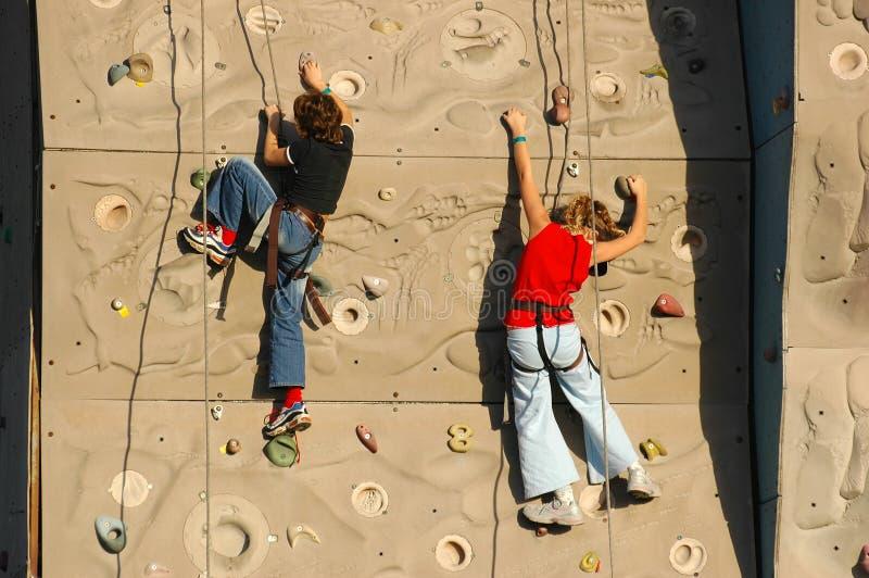 klättrarevägg royaltyfri bild
