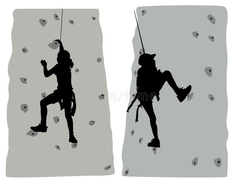 klättrarevektor royaltyfri illustrationer