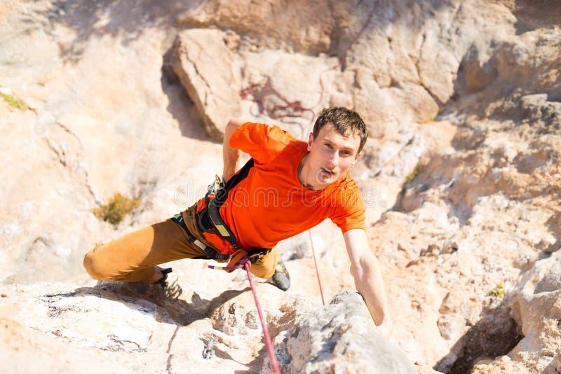 klättring royaltyfri foto