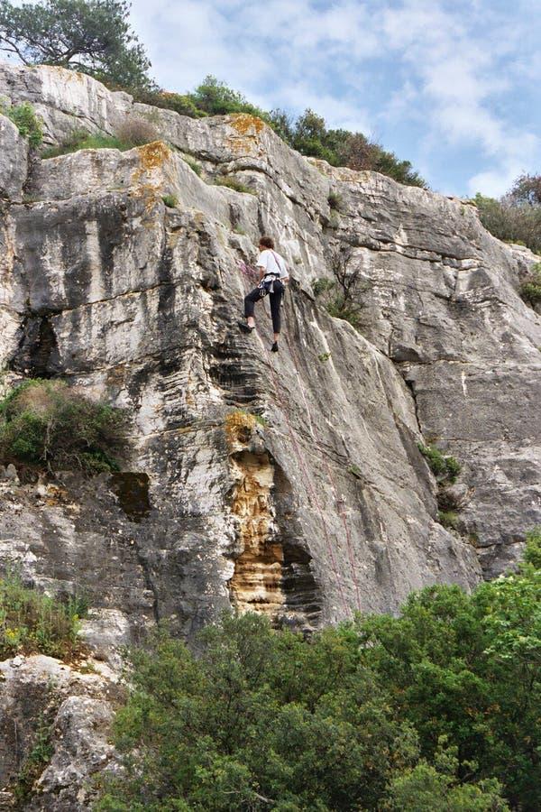 klättring croatia arkivfoton