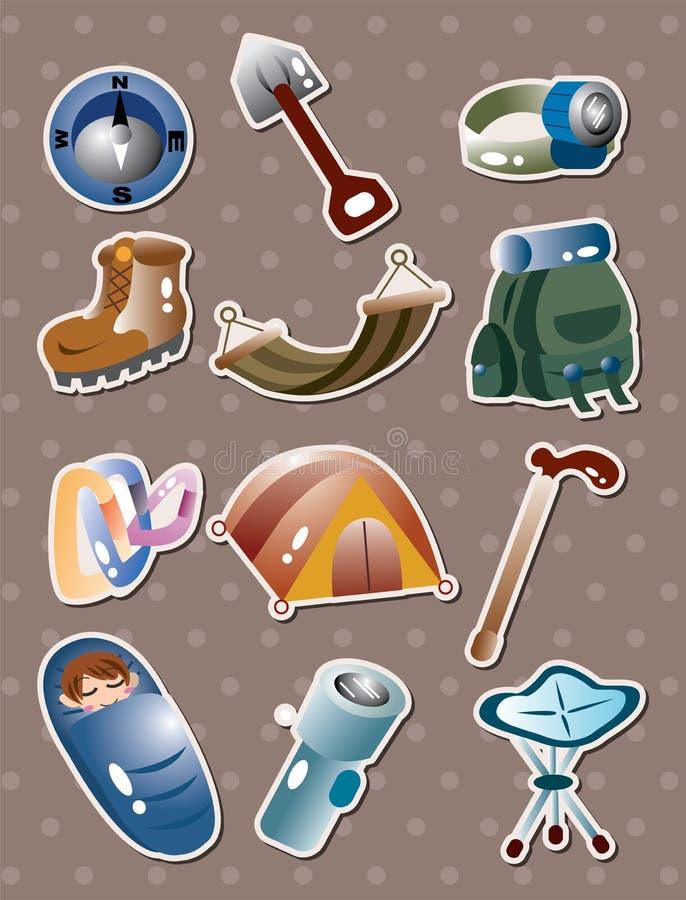 Klättringhjälpmedeletiketter stock illustrationer