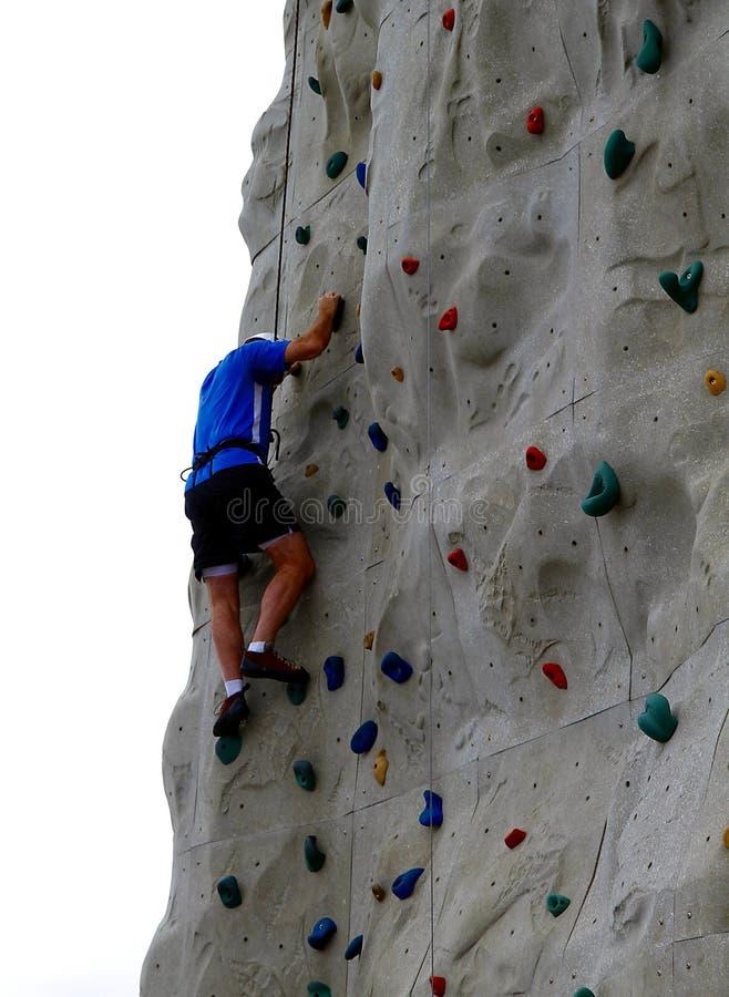 klättringrockvägg arkivfoton